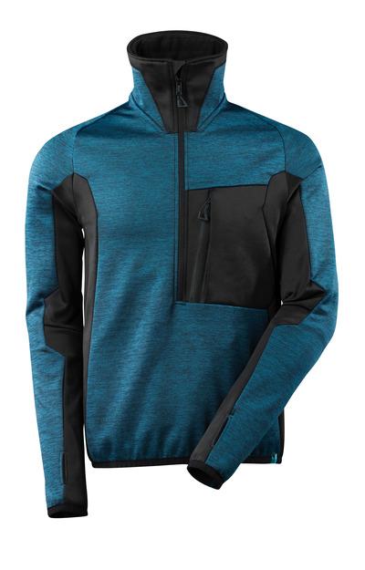 MASCOT® ADVANCED - dark petroleum/black - Fleece Jumper with half zip, modern fit