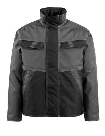 MASCOT® Albury - dark anthracite/black - Winter Jacket with quilted lining, water-repellent