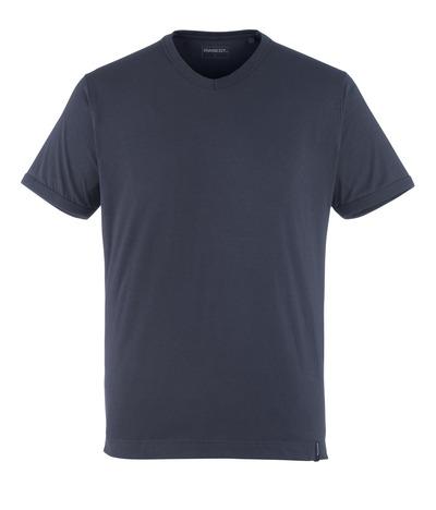 MASCOT® Algoso - dark navy - T-shirt, small V-neck, modern fit
