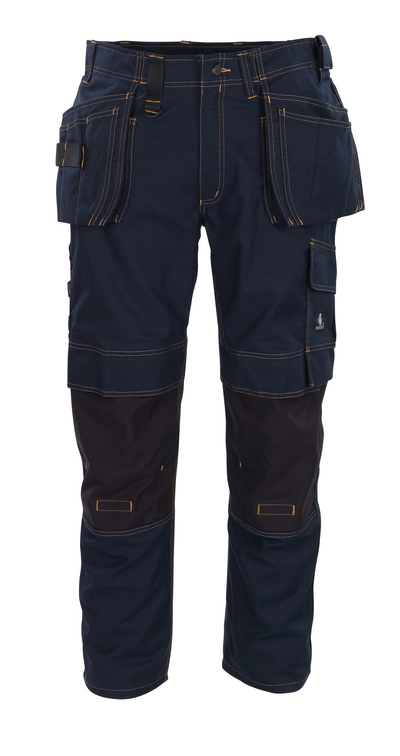 MASCOT® Almada - dark navy - Trousers with CORDURA® kneepad pockets and with holster pockets, high durability