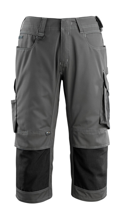 MASCOT® Altona - dark anthracite/black - ¾ Length Trousers with CORDURA® kneepad pockets, lightweight