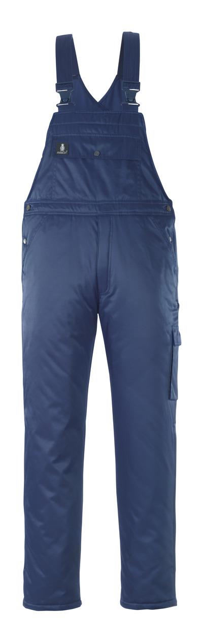 MASCOT® Antarktis - navy - Winter Bib & Brace with quilted lining, water-repellent Bearnylon®