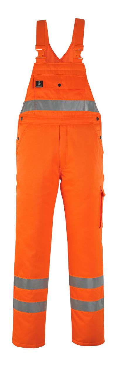 MASCOT® Antarktis - hi-vis orange* - Winter Bib & Brace with quilted lining, water-repellent, class 2/2