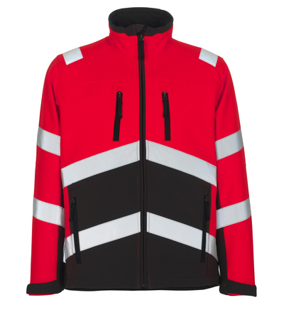 MASCOT® Antas - hi-vis red/dark anthracite - Softshell Jacket with fleece on inner side, water-repellent, class 2