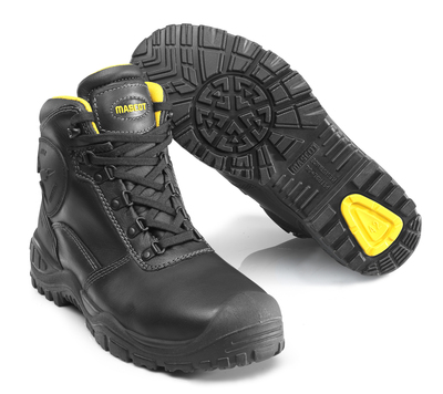 MASCOT® Batura Plus - black/yellow - Safety Boot S3 with laces