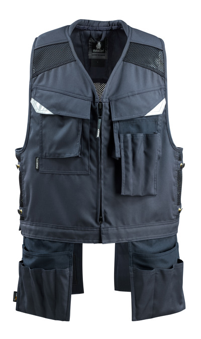 MASCOT® Baza - dark navy - Tool Vest with four holster pockets