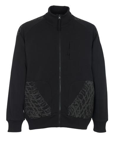 MASCOT® Belfort - black* - Sweatshirt with zipper
