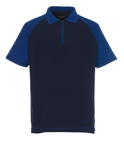 MASCOT® Bianco - navy/royal - Polo Shirt with chest pocket and zipper, classic fit
