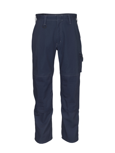 MASCOT® Biloxi - dark navy - Trousers with kneepad pockets, cotton