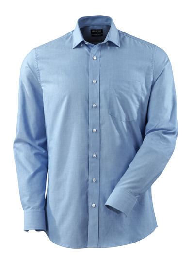 MASCOT® CROSSOVER - light blue - Shirt Oxford, modern fit, long-sleeved.