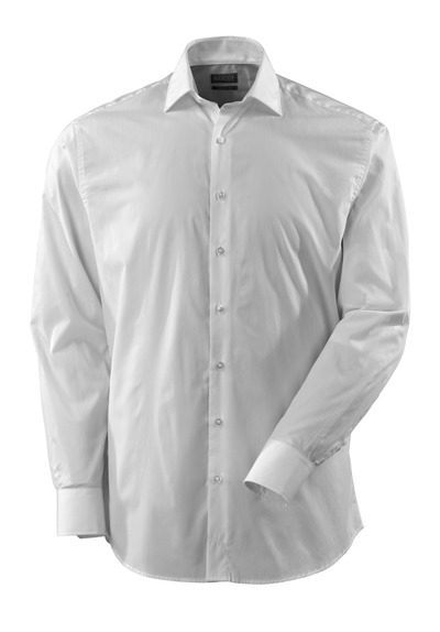 MASCOT® CROSSOVER - white - Shirt poplin, classic fit, long-sleeved.