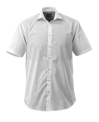 MASCOT® CROSSOVER - white - Shirt, short sleeved, poplin, classic fit