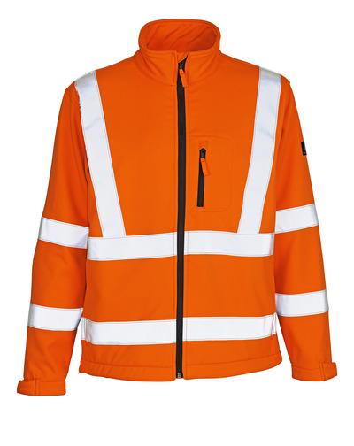 MASCOT® Calgary - hi-vis orange - Softshell Jacket with fleece on inner side, class 3