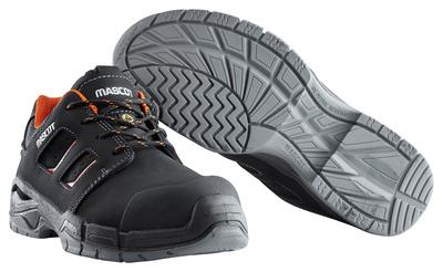 MASCOT® Diran - black/dark orange - Safety Shoe S3 with laces