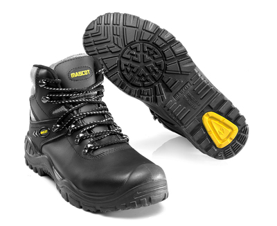 MASCOT® Elbrus - black/yellow - Safety Boot S3 with laces
