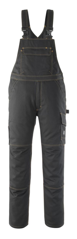MASCOT® Elvas - black - Bib & Brace, high durability