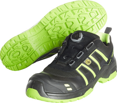 MASCOT® FOOTWEAR FLEX - black/hi-vis yellow - Safety shoe S1P with Boa® closure, mesh and print