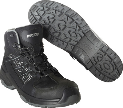 MASCOT® FOOTWEAR FLEX - black - Safety boot (mid cut) S3 with laces
