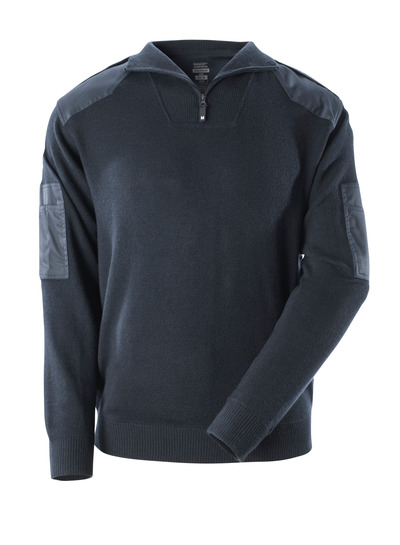 MASCOT® FRONTLINE - dark navy - Knitted Jumper with reinforcements, with wool.