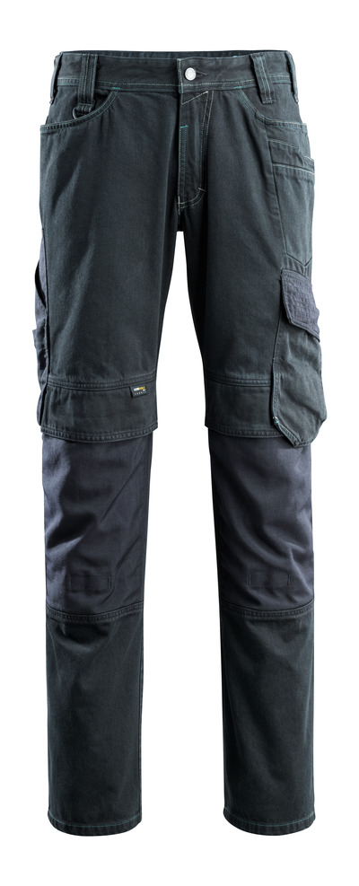 MASCOT® Ferrol - dark blue denim - Jeans with kneepad pockets, extra high durability