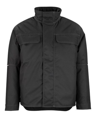 MASCOT® Flint - black - Winter Jacket with quilted fleece lining