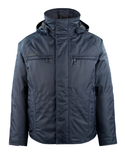 MASCOT® Frankfurt - dark navy - Winter Jacket with quilted fleece lining, waterproof