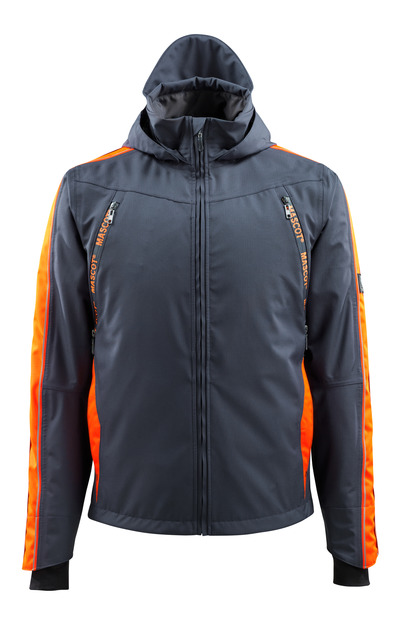 MASCOT® Gandia - dark navy/hi-vis orange - Outer Shell Jacket with hi-vis contrast, waterproof