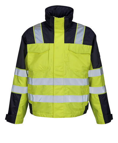MASCOT® Genova - hi-vis yellow/navy - Winter Jacket with quilted lining, waterproof, class 2/2