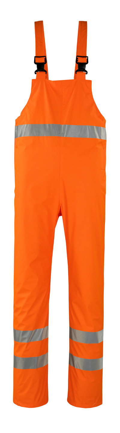 MASCOT® Hartberg - hi-vis orange* - Rain Bib & Brace, wind and waterproof, class 2
