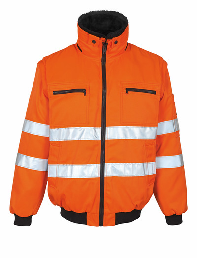 MASCOT® Innsbruck - hi-vis orange - Pilot Jacket with detachable pile lining, water-repellent, class 2