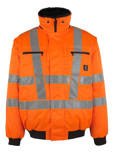 MASCOT® Innsbruck - hi-vis orange - Pilot Jacket with detachable pile lining, water-repellent, class 3