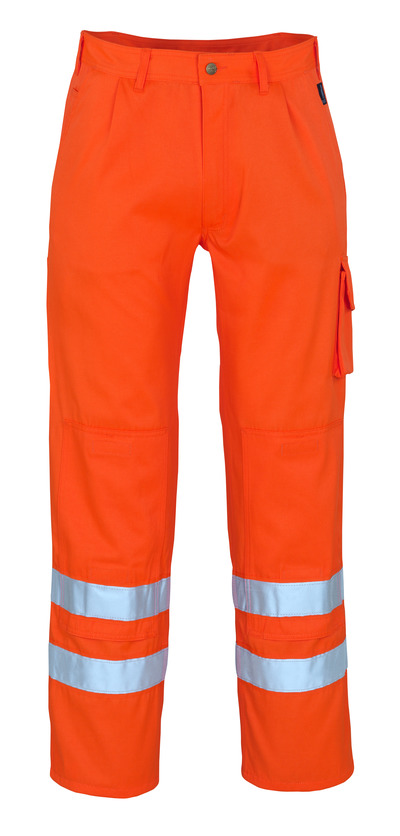 MASCOT® Iowa - hi-vis orange* - Trousers with kneepad pockets, class 1/2