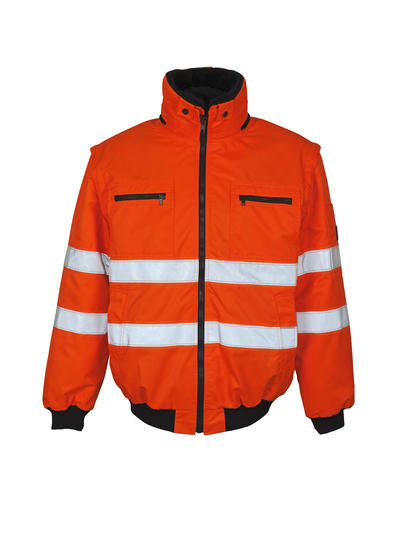 MASCOT® Kaprun - hi-vis orange - Pilot Jacket with detachable pile lining, water-repellent, class 3
