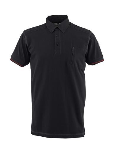 MASCOT® Kreta - black - Polo Shirt with chest pocket, modern fit