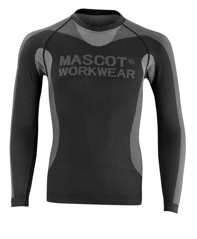 MASCOT® Lahti - black - Functional Under Shirt, lightweight, insulating