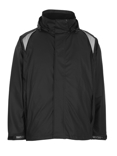 MASCOT® Lake - black - Rain Jacket, wind and waterproof