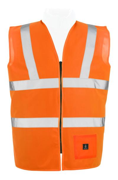 MASCOT® Lakewood - hi-vis orange - Traffic Vest with zipper, class 2