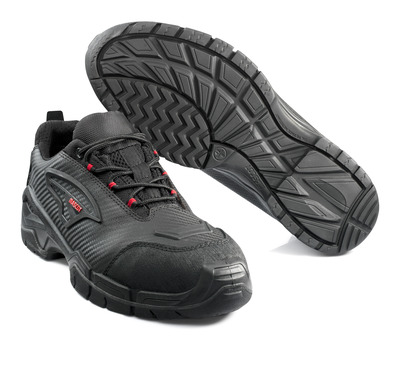 MASCOT® Langley - black/red - Safety Shoe
