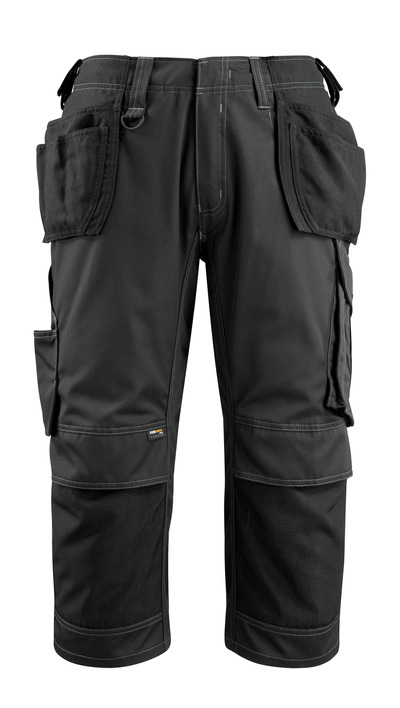 MASCOT® Lindau - black - ¾ Length Trousers with CORDURA® kneepad pockets and holster pockets, high durability