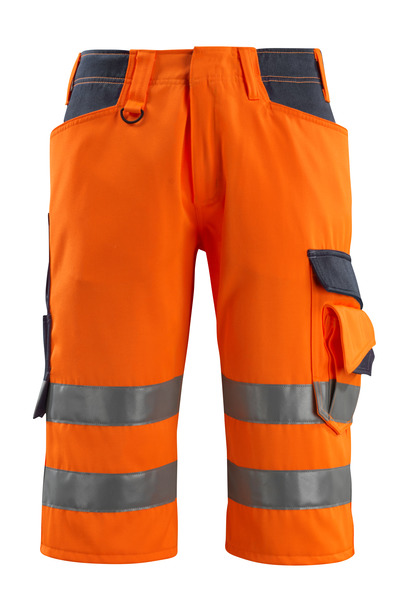 MASCOT® Luton - hi-vis orange/dark navy - ¾ Length Trousers