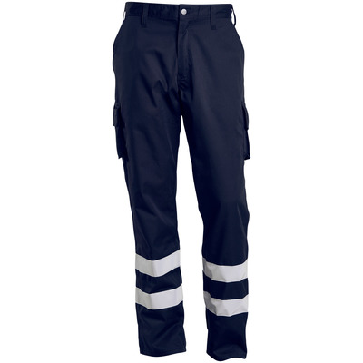 MACMICHAEL® MacMichael - dark navy - Trousers with thigh pockets, reflective tape, lightweight
