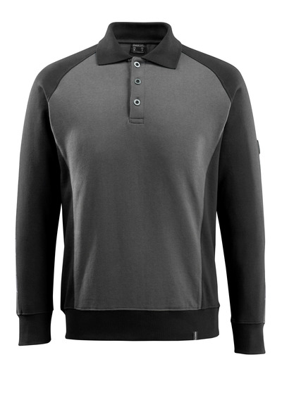 MASCOT® Magdeburg - dark anthracite/black - Polo Sweatshirt, modern fit