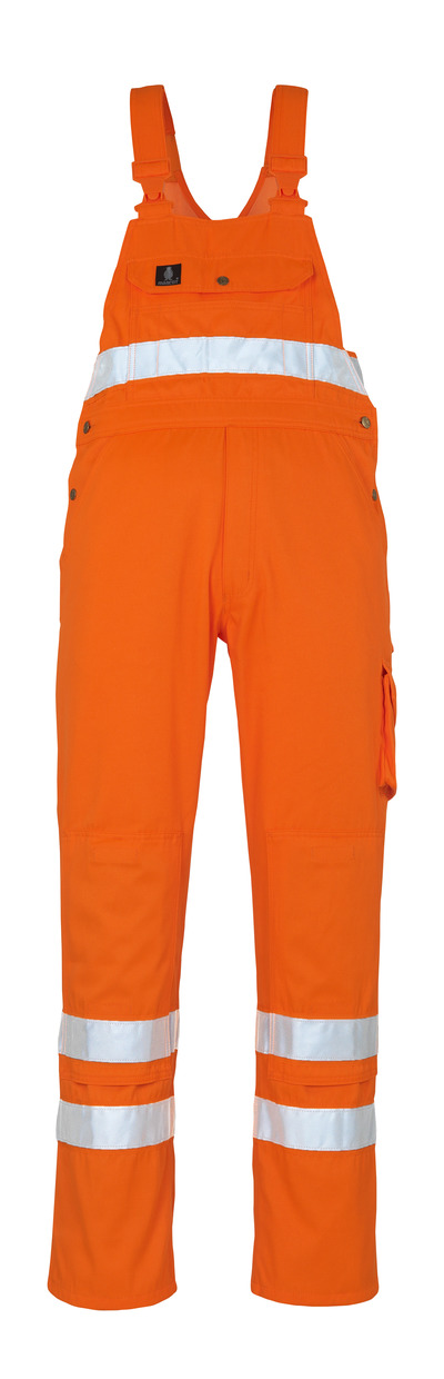 MASCOT® Maine - hi-vis orange* - Bib & Brace with kneepad pockets
