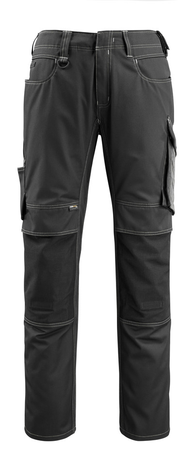MASCOT® Mannheim - black/dark anthracite - Trousers with CORDURA® kneepad pockets, lightweight