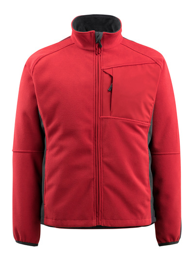 MASCOT® Marburg - red/black - Fleece Jacket with mesh lining, water-repellent