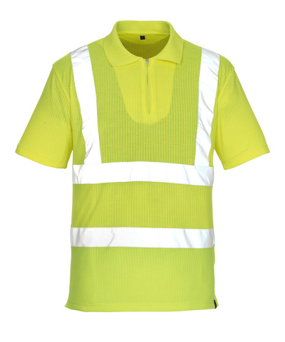 MASCOT® Melville - hi-vis yellow* - Polo Shirt with zipper, classic fit, class 2/2