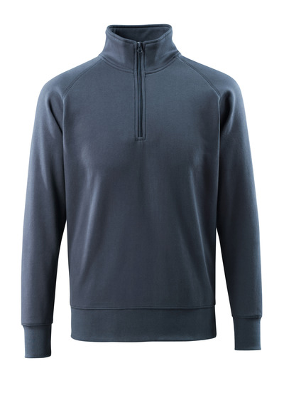 MASCOT® Nantes - dark navy - Sweatshirt with half zip, modern fit