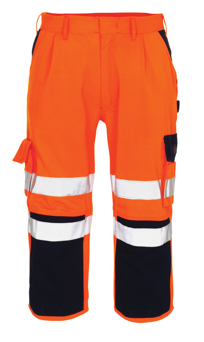 MASCOT® Natal - hi-vis orange/navy* - ¾ Length Trousers with kneepad pockets