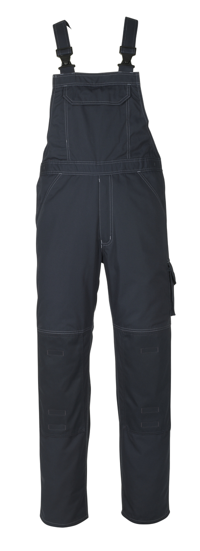 MASCOT® Newark - dark navy - Bib & Brace with kneepad pockets, lightweight