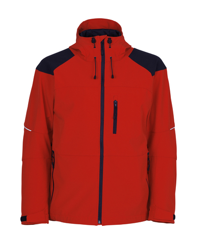 MASCOT® Nisa - traffic red/black* - Softshell Jacket with hood, water-repellent